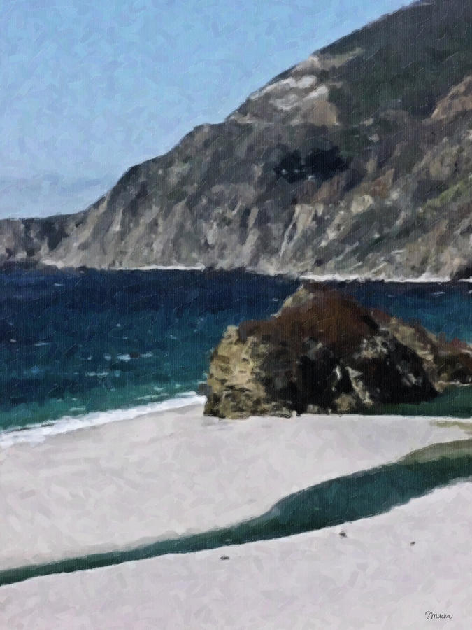 Big Sur California  Digital Art