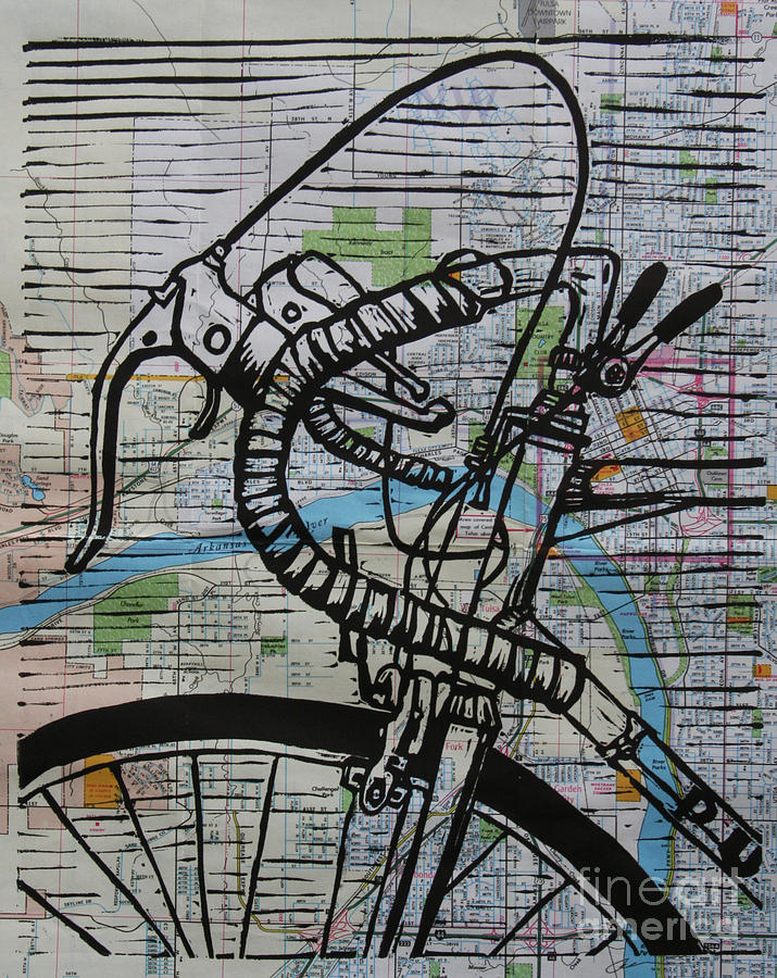 Bike 2 On Map Drawing