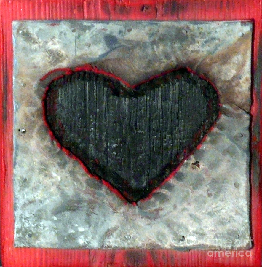 Black Heart Sculpture  - Black Heart Fine Art Print