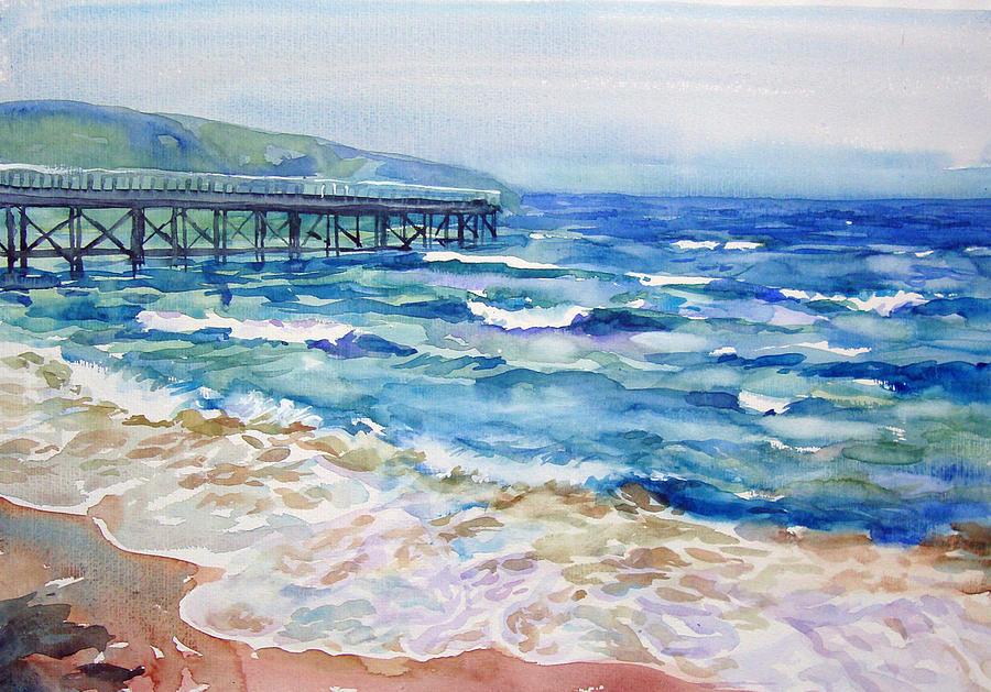 Seascape Painting - Black Sea by Jack Tzekov