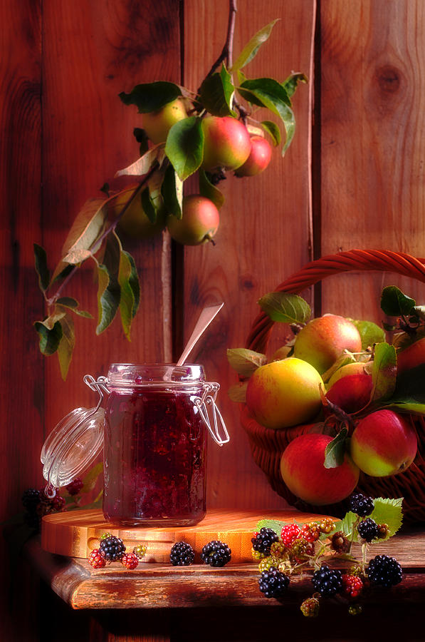 Blackberry And Apple Jam Photograph  - Blackberry And Apple Jam Fine Art Print