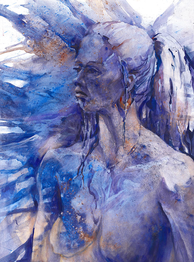 Blue Lady Painting  - Blue Lady Fine Art Print
