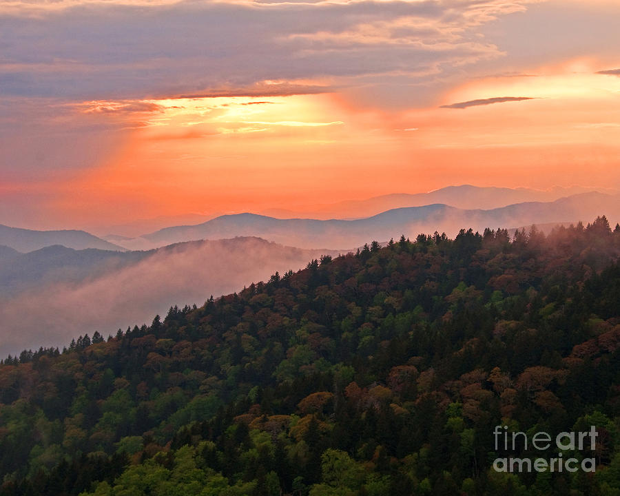 Blue Ridge Sunset Photograph  - Blue Ridge Sunset Fine Art Print