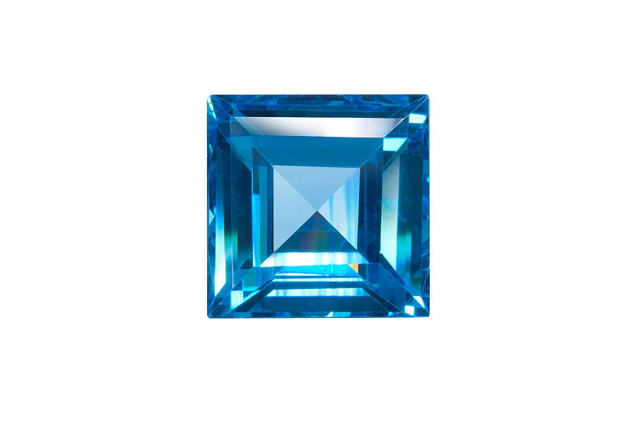 Blue Sapphire Isolated Jewelry  - Blue Sapphire Isolated Fine Art Print
