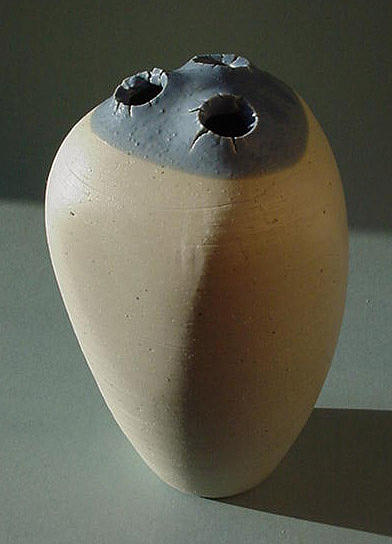 Blue Spike Jar Sculpture