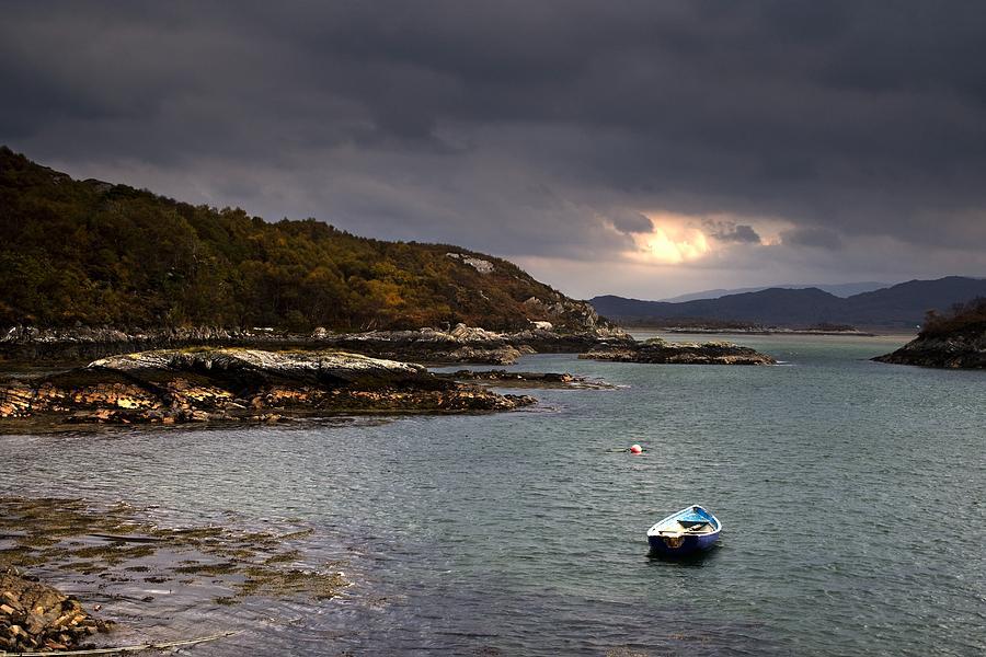 Boat In Water, Loch Sunart, Scotland Photograph