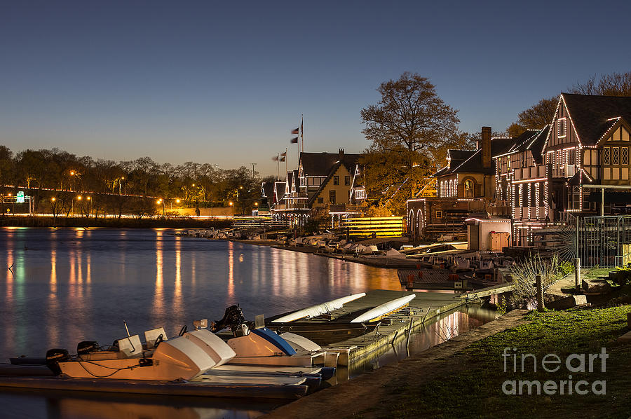 Boathouse Row Photograph - Boathouse Row by John Greim