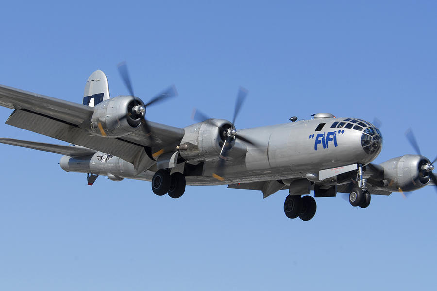 Boeing B-29 Superfortress Fifi Deer Valley Airport November 14 2010. Photograph  - Boeing B-29 Superfortress Fifi Deer Valley Airport November 14 2010. Fine Art Print