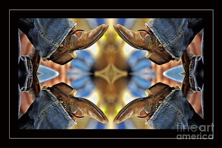 Boots Kaleidoscope Photograph  - Boots Kaleidoscope Fine Art Print