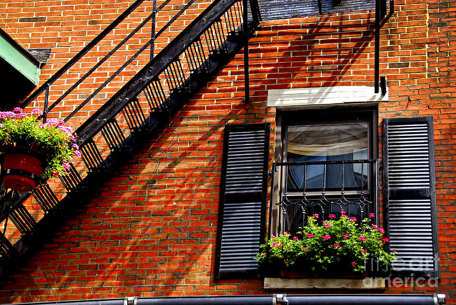 Boston House Fragment Photograph  - Boston House Fragment Fine Art Print