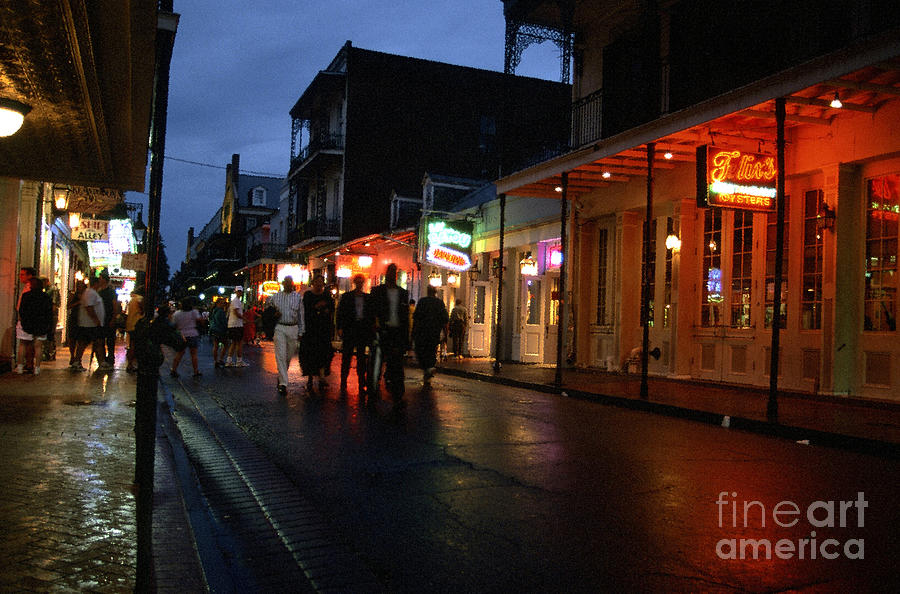 Bourbon Street At Dusk Photograph  - Bourbon Street At Dusk Fine Art Print