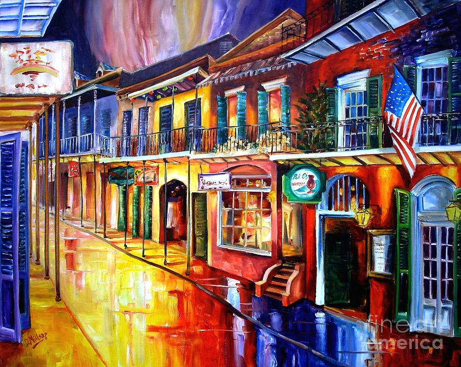 Bourbon Street Red Painting
