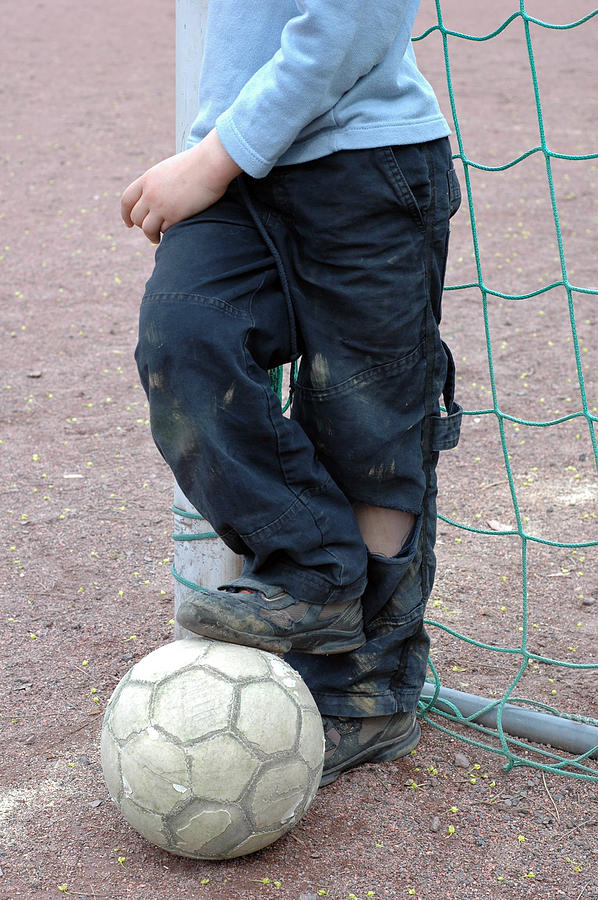 Boy With Soccer Ball Photograph
