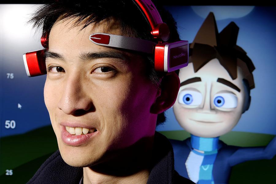 Brainwave-reading Headset Photograph