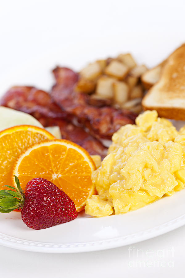 Breakfast  Photograph  - Breakfast  Fine Art Print