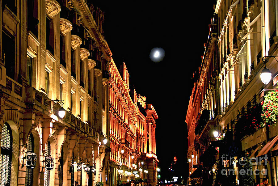 Bright Moon In Paris Photograph