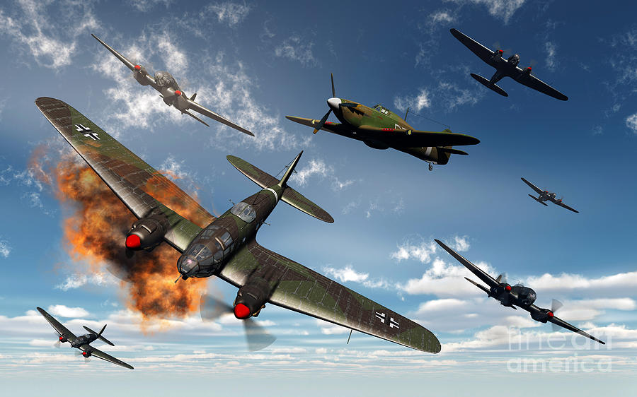 British Hawker Hurricane Aircraft Digital Art