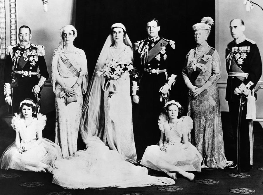 British Royal Family. Seated, From Left Photograph