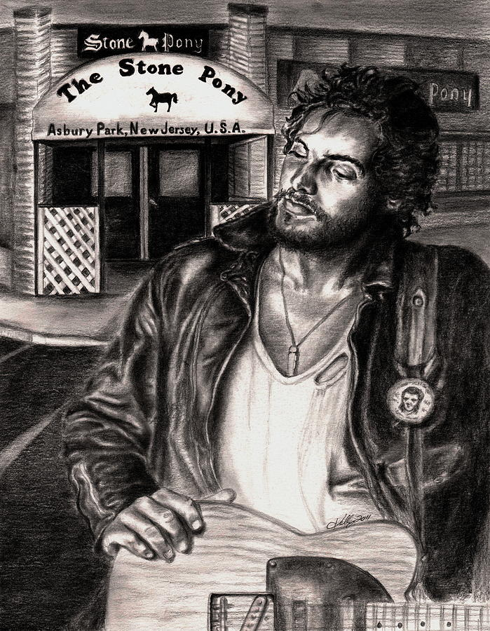Bruce Springsteen Drawing  - Bruce Springsteen Fine Art Print