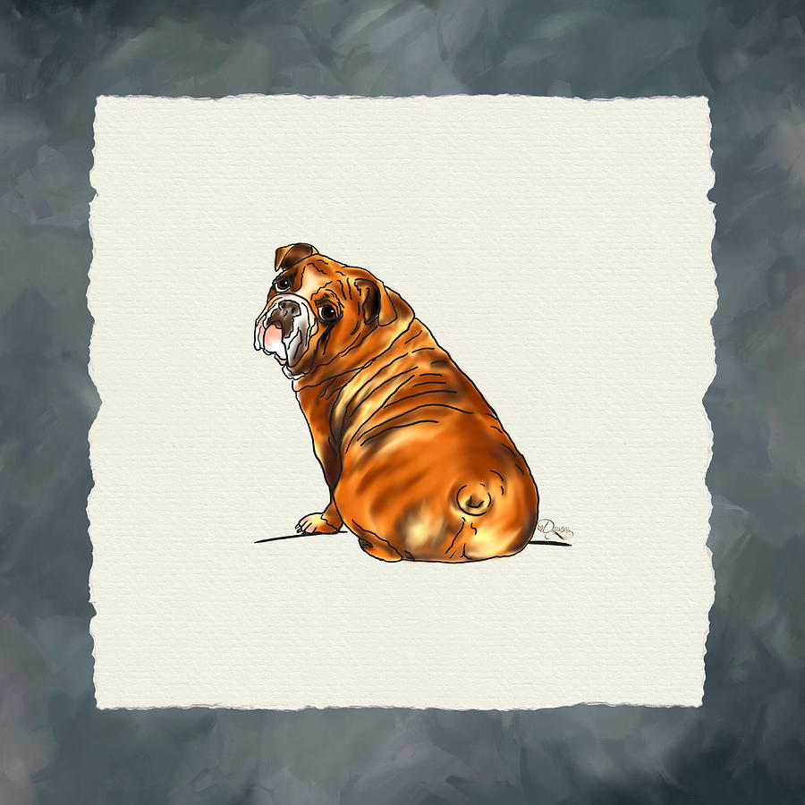 Bulldog Digital Art  - Bulldog Fine Art Print