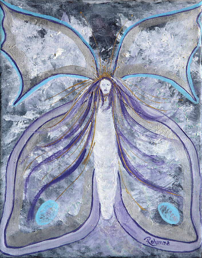 Butterfly Goddess Painting  - Butterfly Goddess Fine Art Print