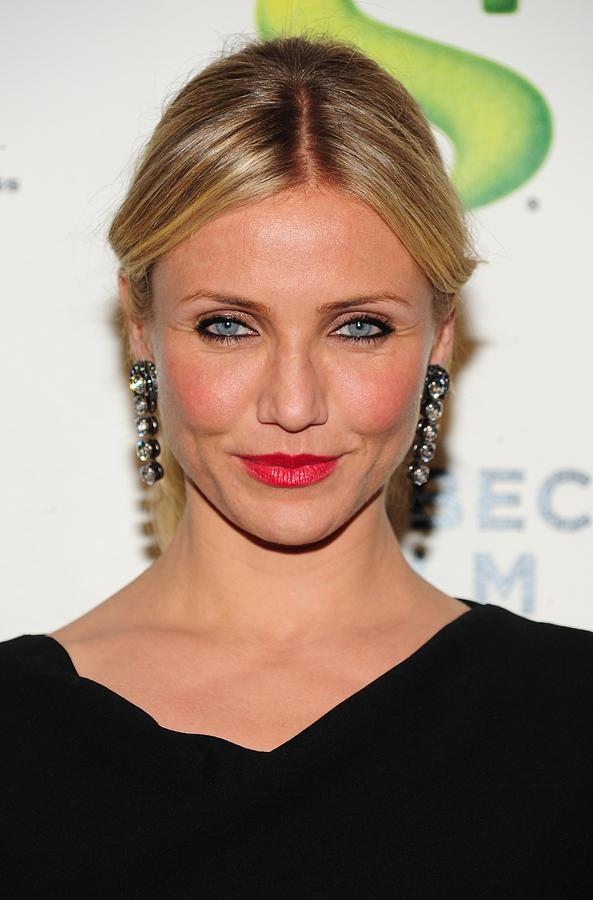 Cameron Diaz Wearing Lanvin Earrings Photograph