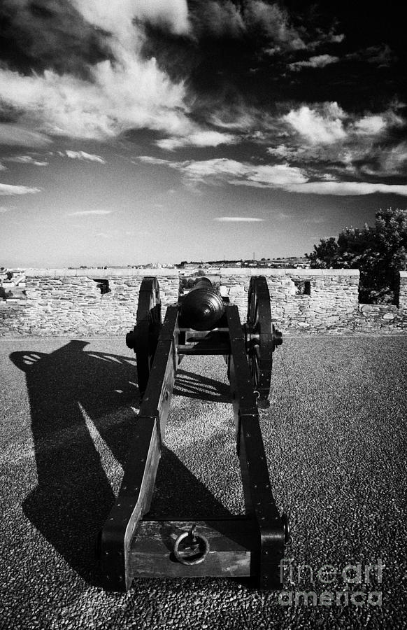Cannon On Church Bastion Facing Out On The 17th Century Walls Of Derry Photograph