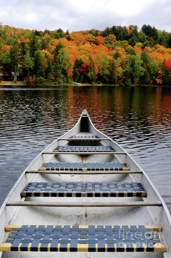 Canoe On A Lake Photograph  - Canoe On A Lake Fine Art Print