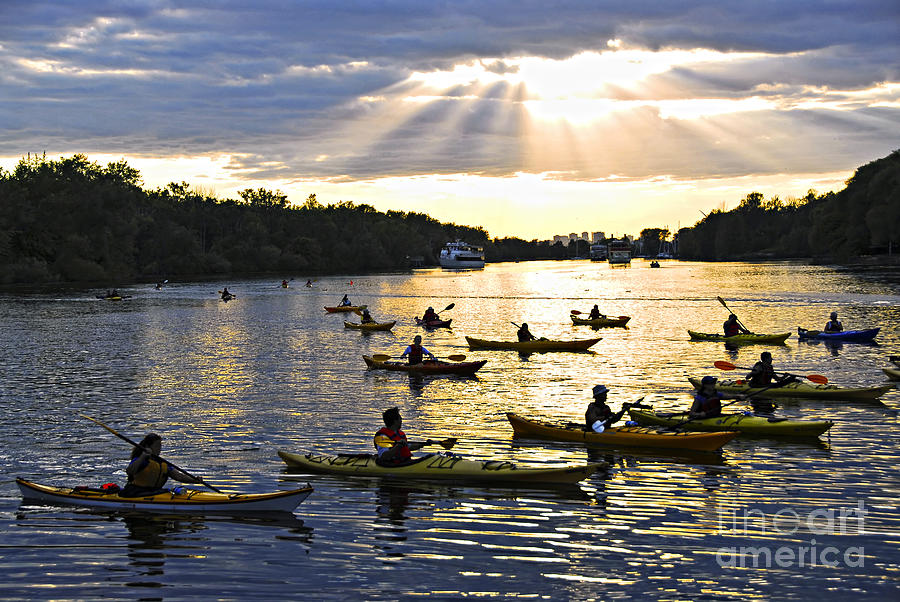 Canoeing Photograph