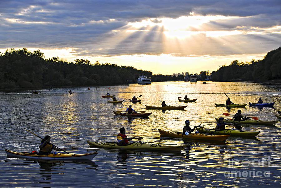 Active Photograph - Canoeing by Elena Elisseeva