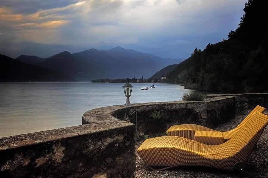 Lake Maggiore Photograph - Canvas Chairs by Joana Kruse