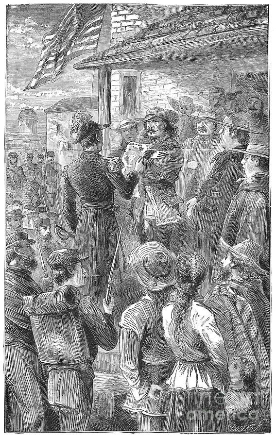 Capture Of Santa Fe, 1846 Photograph