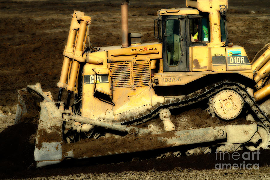 Cat Bulldozer . 7d10945 Photograph