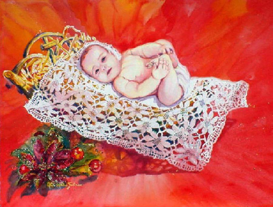 Christmas Painting - Celestial Grace by Estela Robles