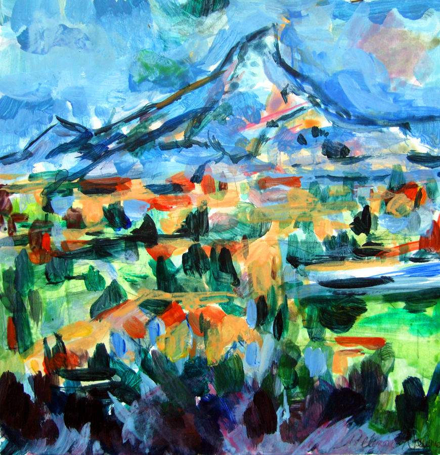 Cezanne Mountain Painting
