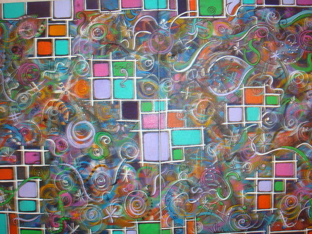 Abstract Painting - Chaos Bound by Catherine Nichols