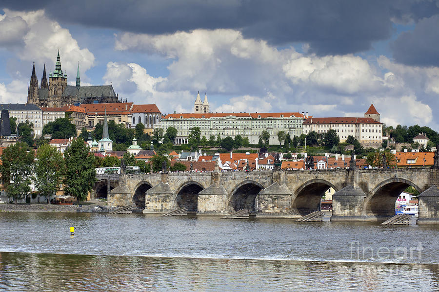 Charles Bridge And Prague Castle Photograph  - Charles Bridge And Prague Castle Fine Art Print