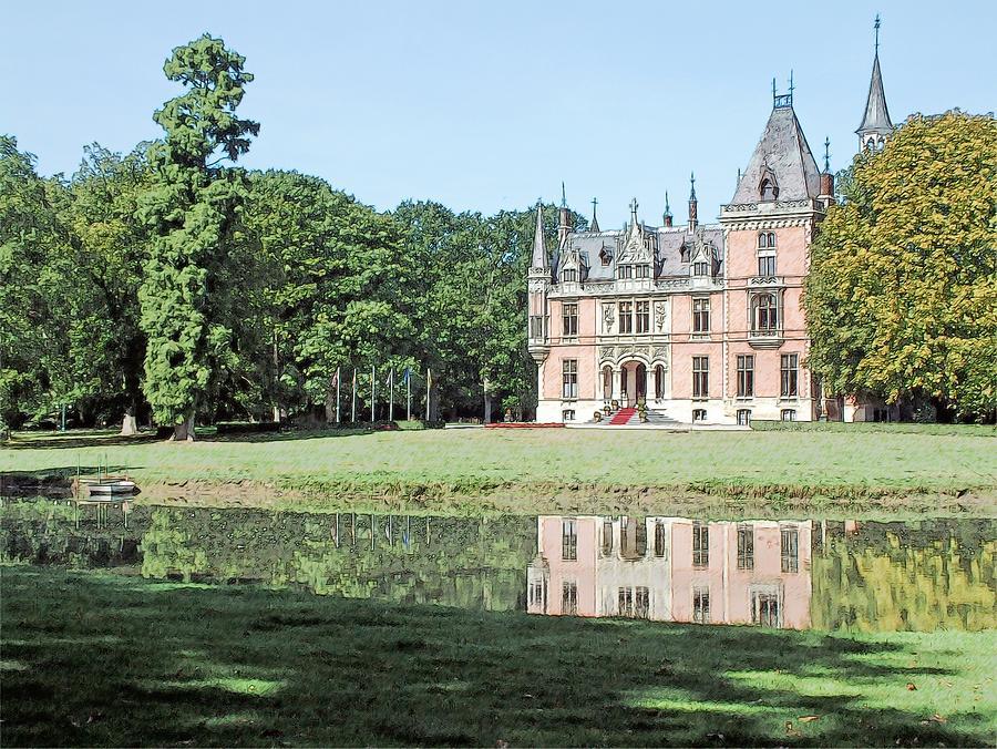 Chateau Aertrycke Torhout Belgium Photograph