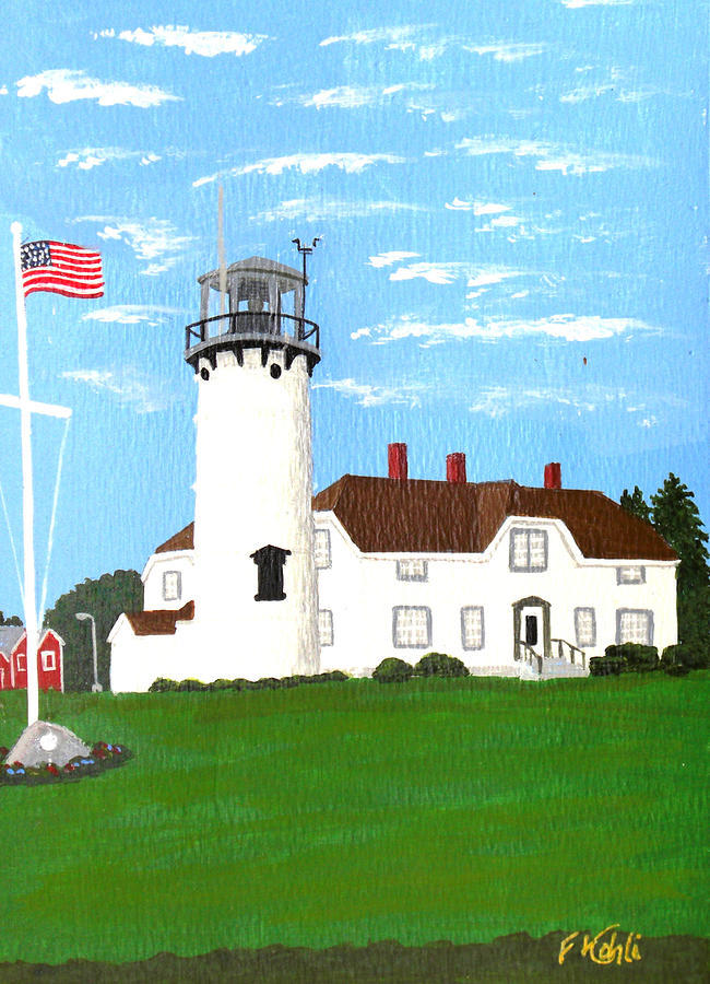 Chatham Lighthouse Painting Painting  - Chatham Lighthouse Painting Fine Art Print