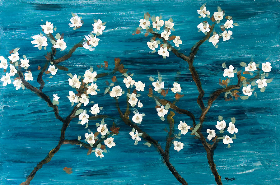 Cherry Blossoms Mixed Media - Cherry Blossoms by Gretchen Martini