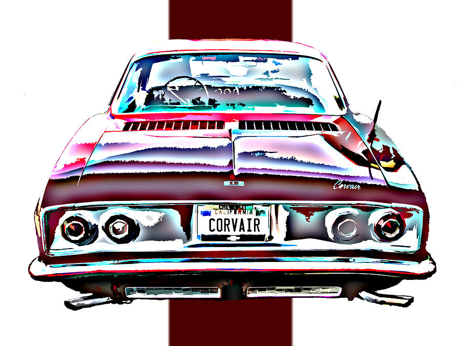 Chevy Photograph - Chevy Corvair Rear Study by Samuel Sheats