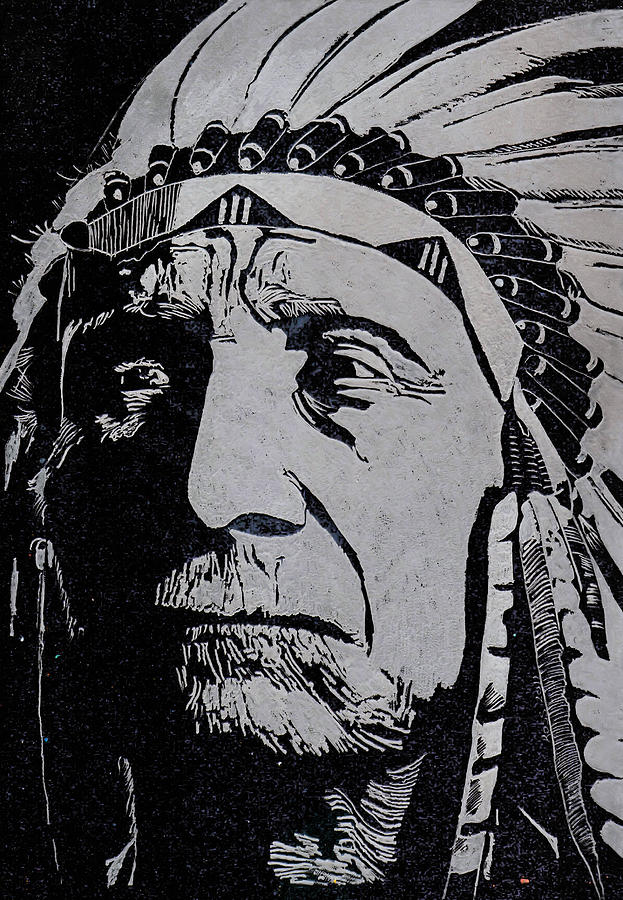 Chief Red Cloud Glass Art
