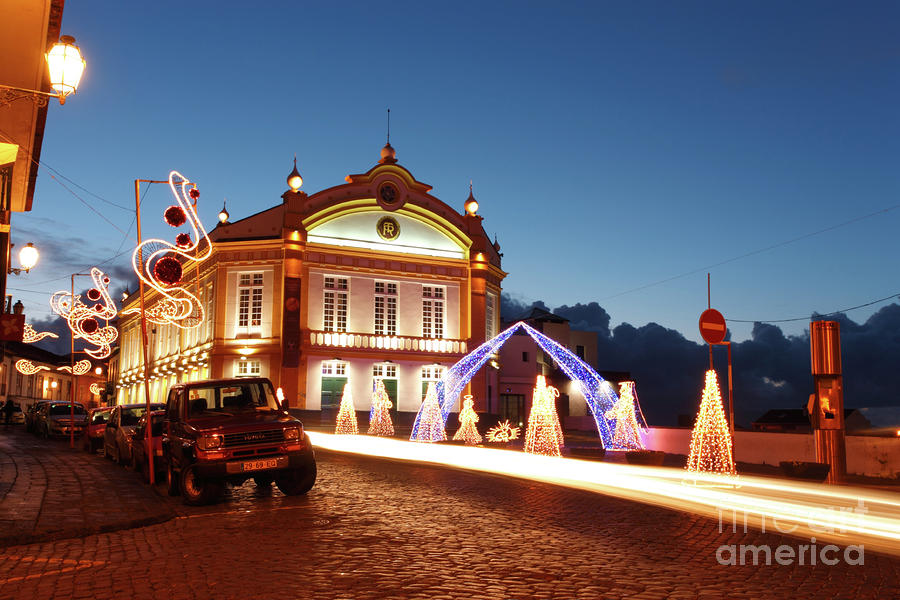 Christmas In Ribeira Grande Photograph  - Christmas In Ribeira Grande Fine Art Print