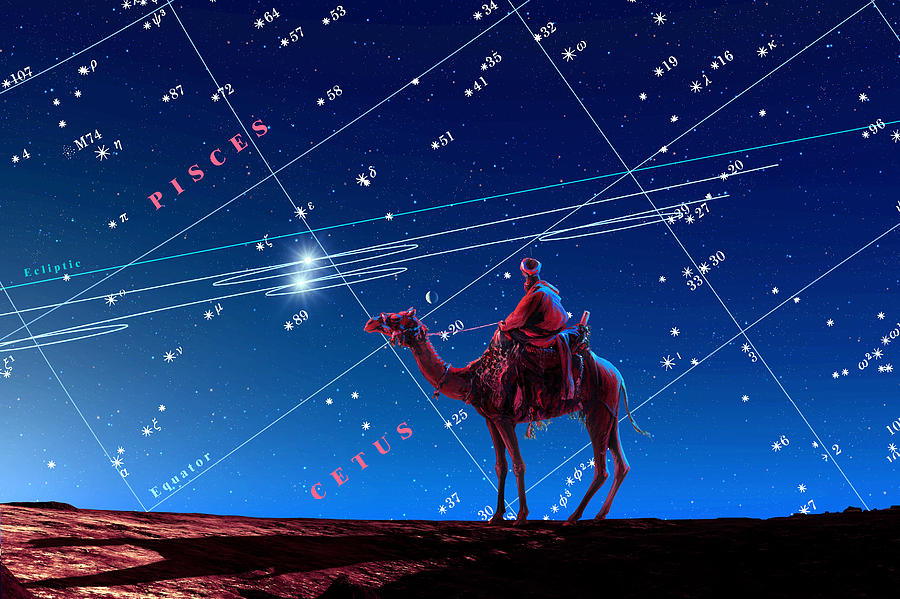 Christmas Star As Planetary Conjunction Photograph  - Christmas Star As Planetary Conjunction Fine Art Print