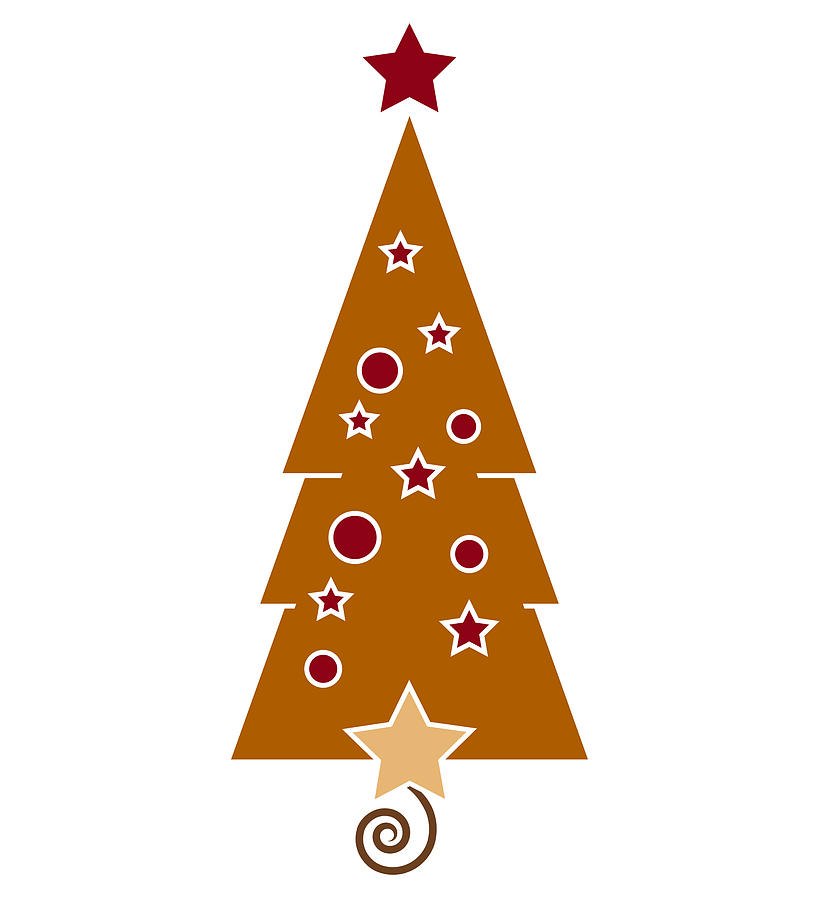 Christmas Tree Drawing  - Christmas Tree Fine Art Print