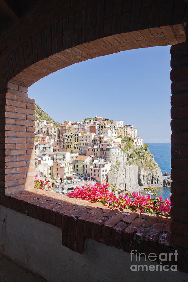 Cinque Terre Town Of Manarola Photograph  - Cinque Terre Town Of Manarola Fine Art Print