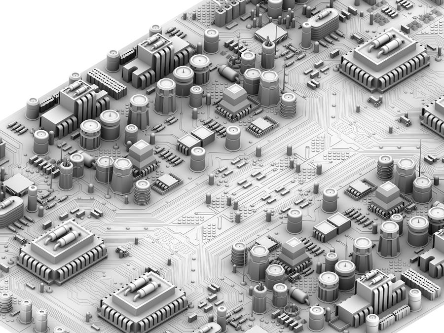 Circuit Board, Artwork Photograph