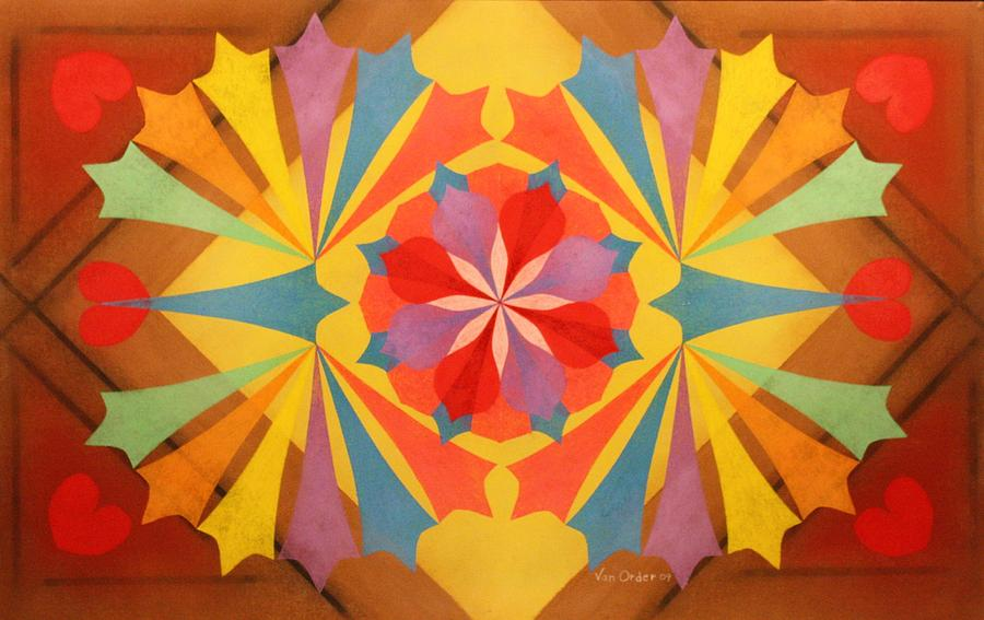 Circus Of Color Pastel  - Circus Of Color Fine Art Print