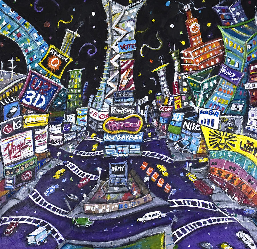 City Of Lights Painting  - City Of Lights Fine Art Print
