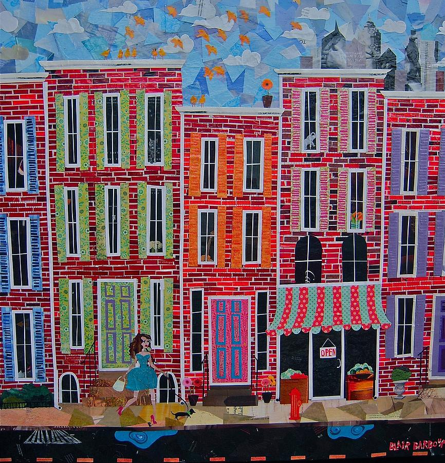 City Streets Mixed Media  - City Streets Fine Art Print